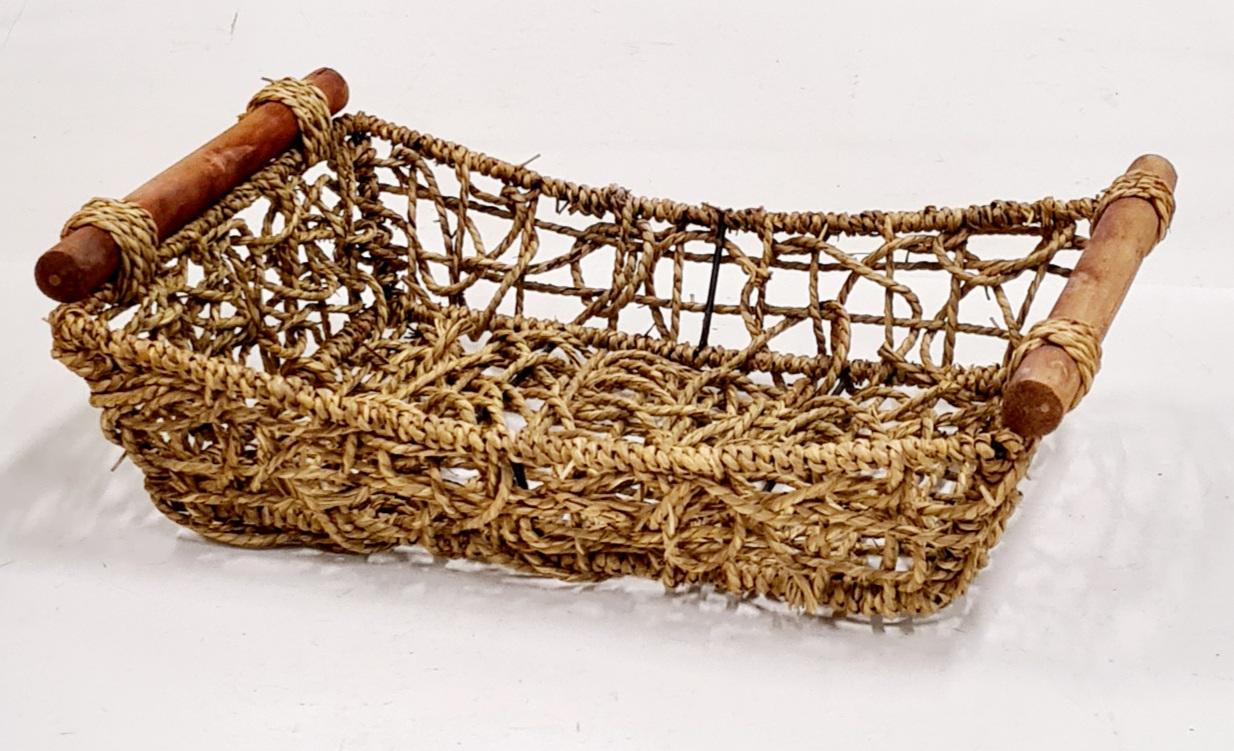Корзина плетеная из ивовой лозы ивовая лоза, цельный прут натуральный